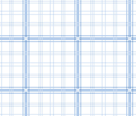 Somerset Tartan in Blueberry fabric by lilyoake on Spoonflower - custom fabric