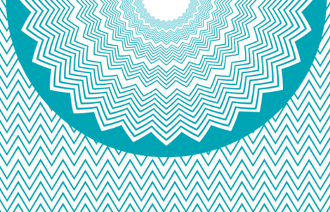Chevron Aqua Circle Skirt for women fabric by wendyg on Spoonflower - custom fabric