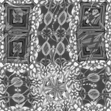 Charcoal Chaos Lace fabric by wren_leyland on Spoonflower - custom fabric