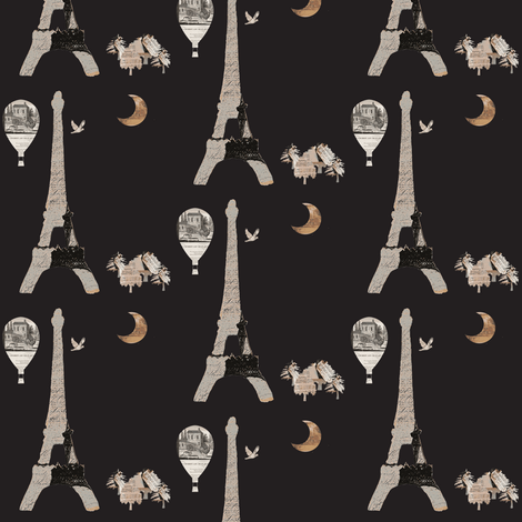 Paris Blue-ch-ch fabric by karenharveycox on Spoonflower - custom fabric