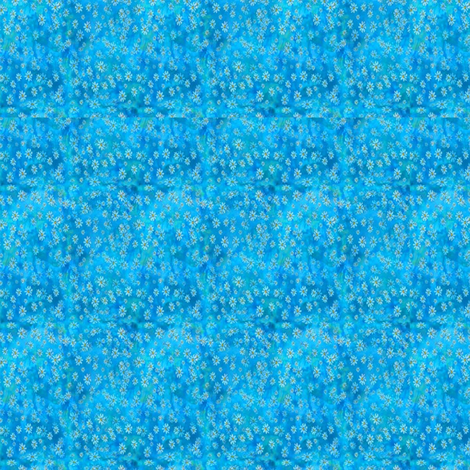 Blue_Daisies fabric by mahoneybee on Spoonflower - custom fabric