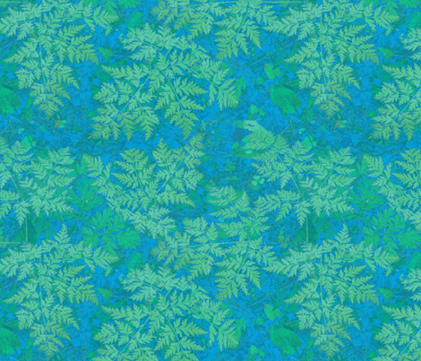 blue_green_fern fabric by mahoneybee on Spoonflower - custom fabric