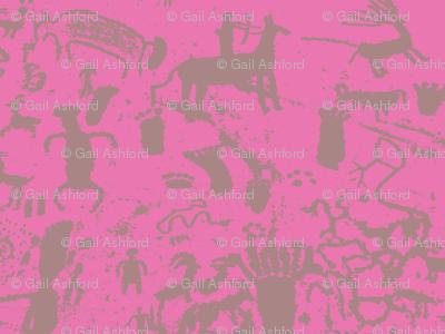 petroglyphs grey  pink