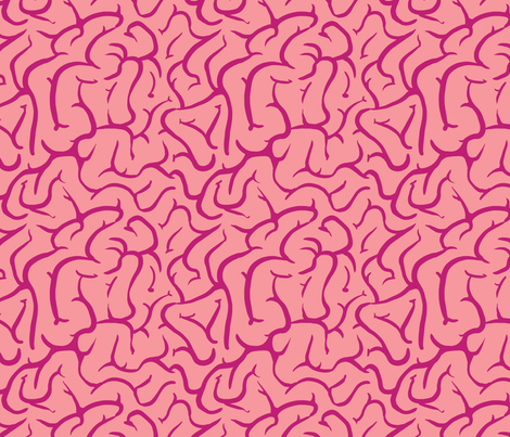 Brains fabric by rosalarian on Spoonflower - custom fabric