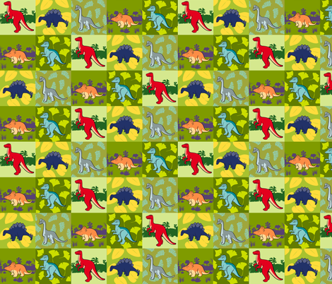 SMALLDino2012 fabric by nikky on Spoonflower - custom fabric