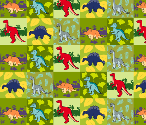 DinoQuilt2012 fabric by nikky on Spoonflower - custom fabric