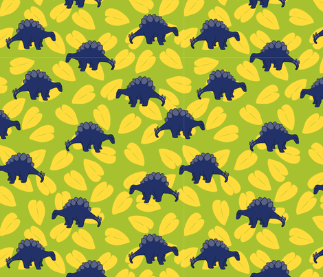 SMALLPurpleDino2012 fabric by nikky on Spoonflower - custom fabric