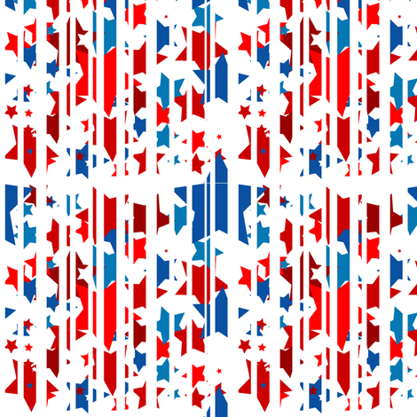 Stars and Stripes?  or Stripes and Stars... fabric by yveleyn on Spoonflower - custom fabric