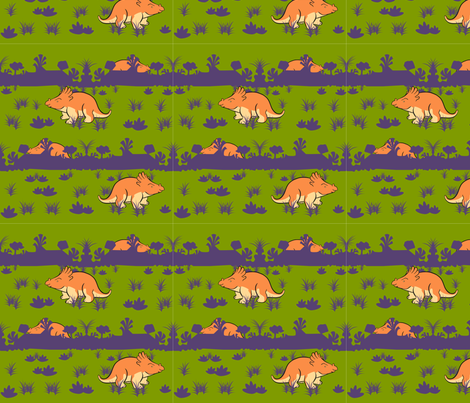 OrangeDino2012 fabric by nikky on Spoonflower - custom fabric