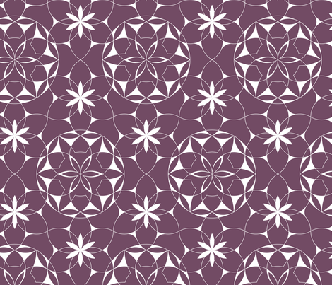 Lacey_web_of_flowers (plum) - large scale fabric by andrea11 on Spoonflower - custom fabric