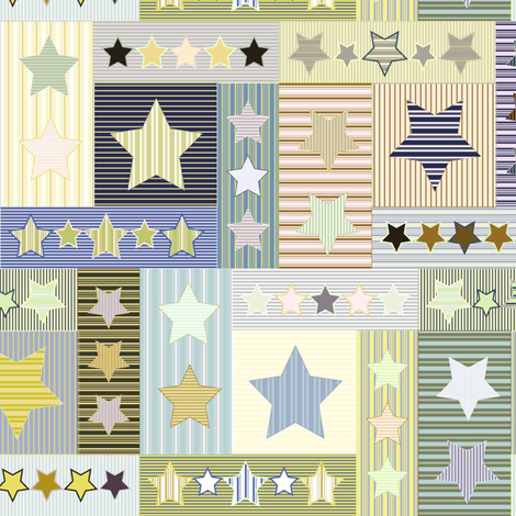 Slumber Stars fabric by mag-o on Spoonflower - custom fabric