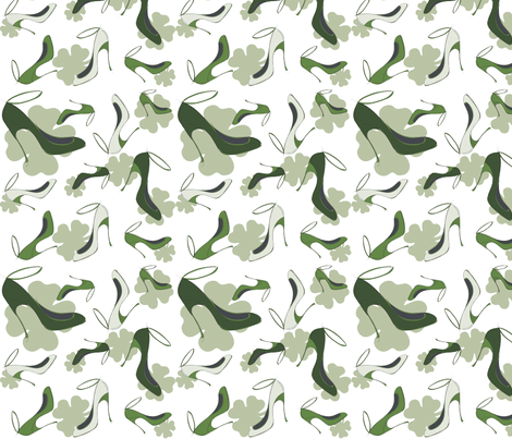 shoe fabric St. Patricks Day fabric by wendyg on Spoonflower - custom fabric