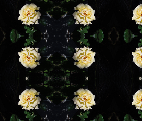Yellow Rose  fabric by painter13 on Spoonflower - custom fabric
