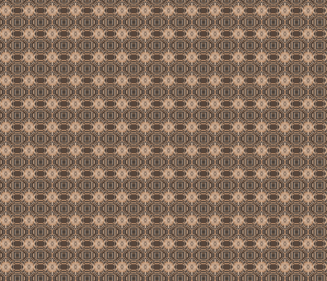 Terrace Brown Detailed Geometric © Gingezel™ 2012 fabric by gingezel on Spoonflower - custom fabric