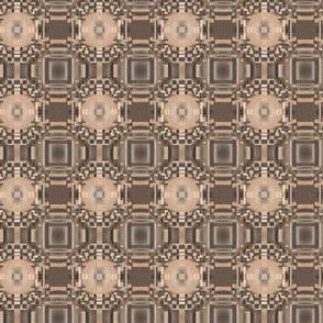 Terrace Brown Detailed Geometric © Gingezel™ 2012