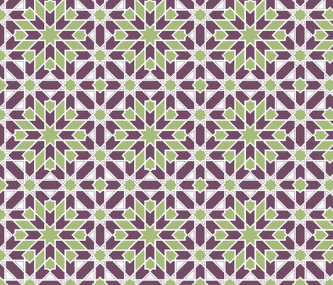 green_purple_Geometric fabric by colorwayart on Spoonflower - custom fabric