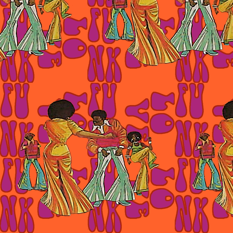 We got the funk fabric by nalo_hopkinson on Spoonflower - custom fabric