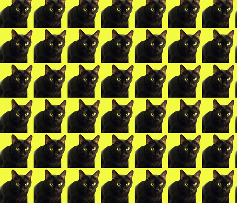 Velvet the Cat 10 Yellow fabric by oceanpeg on Spoonflower - custom fabric
