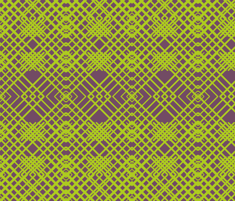 Geometric Lines - Green fabric by nezumiworld on Spoonflower - custom fabric