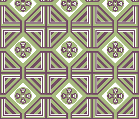 A Geo Garden fabric by paragonstudios on Spoonflower - custom fabric