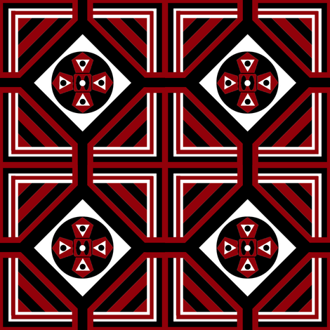 A Geo / Alert fabric by paragonstudios on Spoonflower - custom fabric