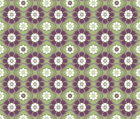 Floral Frame fabric by kdl on Spoonflower - custom fabric