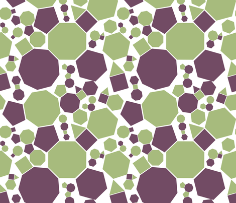 Geometric Fractal fabric by laibniz on Spoonflower - custom fabric