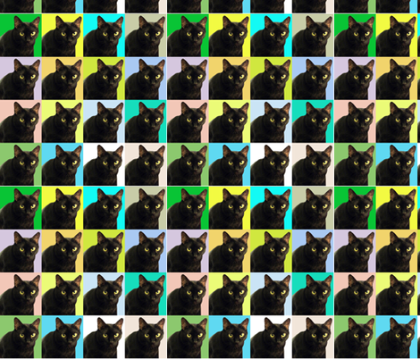 My Cubist Cat,  Velvet  fabric by oceanpeg on Spoonflower - custom fabric