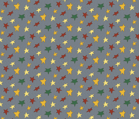 Steggy's Stars fabric by evenspor on Spoonflower - custom fabric