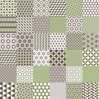 polygon grids 6x6 of 6x6