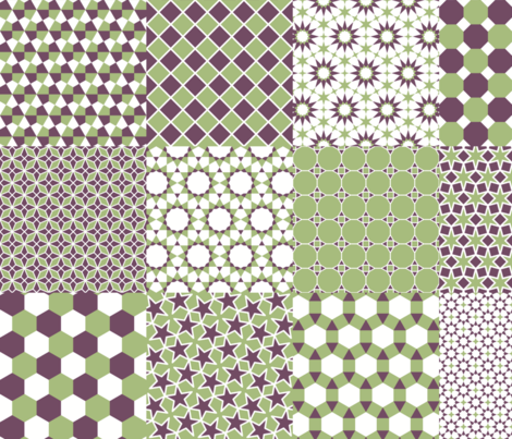 polygon grids 6x6 of 6x6 fabric by sef on Spoonflower - custom fabric