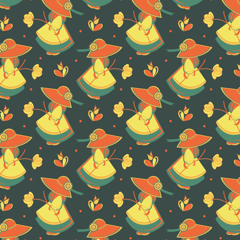 Folk Customs fabric by eppiepeppercorn on Spoonflower - custom fabric