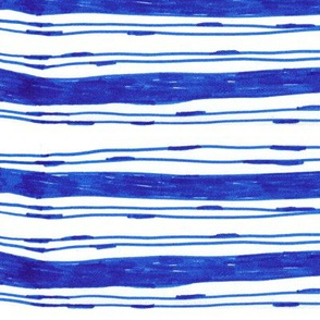 Bohemian Blue Stripes Vertical