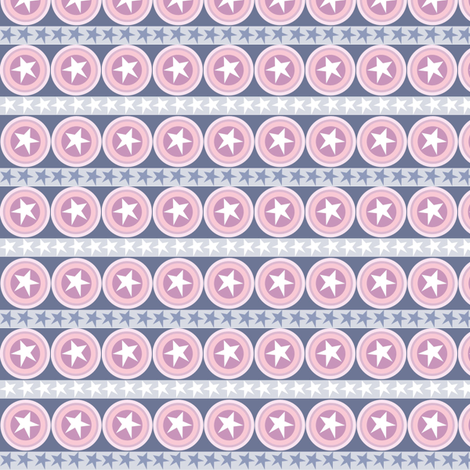 Stars and Stripes fabric by amy-michelle on Spoonflower - custom fabric