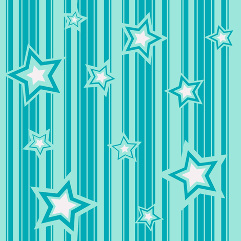 Star Fall fabric by lazydee on Spoonflower - custom fabric