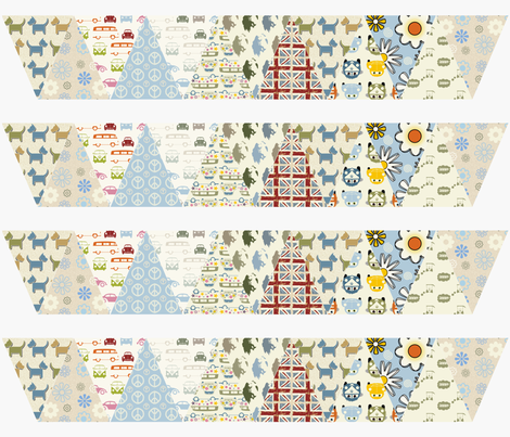 Dogs N Dubs Bunting fabric by dogsndubs on Spoonflower - custom fabric