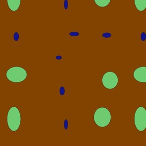 brown with mint and blue-ch