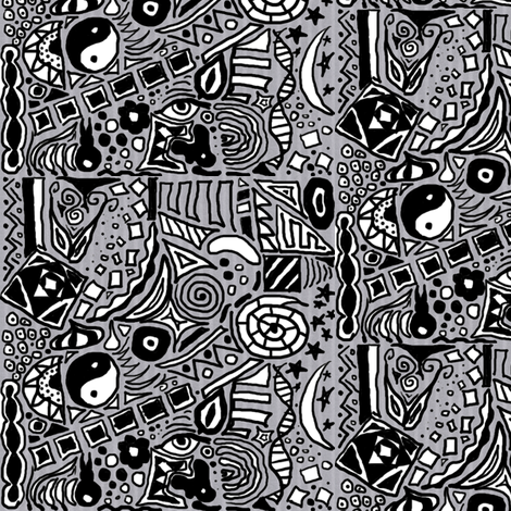BWdoodles fabric by bunnyjump on Spoonflower - custom fabric