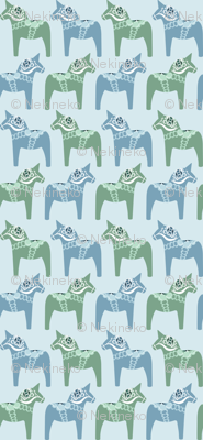 Dala Horse (Blue)