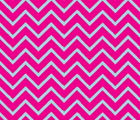 chevron-neon-beach1 fabric by owlandchickadee on Spoonflower - custom fabric