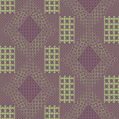 Anatolia Plaid fabric by lulabelle on Spoonflower - custom fabric
