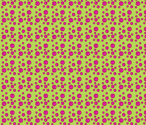 pink_baubles_lgr fabric by mahoneybee on Spoonflower - custom fabric
