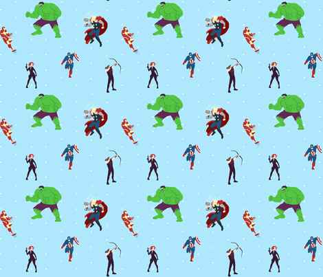 avengers fabric by kettles on Spoonflower - custom fabric