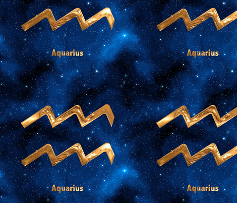 Aquarius Zodiac Sign fabric by animotaxis on Spoonflower - custom fabric
