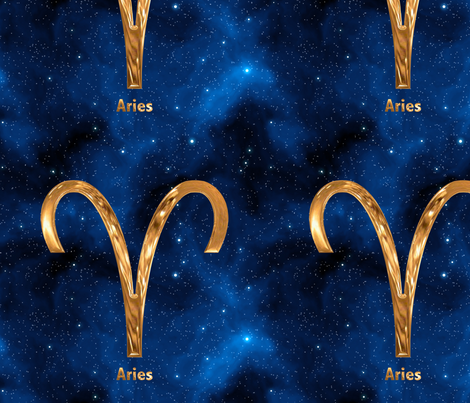 Aries Zodiac Signs fabric by animotaxis on Spoonflower - custom fabric