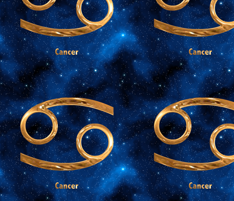 Cancer Zodiac Sign fabric by animotaxis on Spoonflower - custom fabric