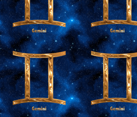 Gemini Zodiac Sign fabric by animotaxis on Spoonflower - custom fabric