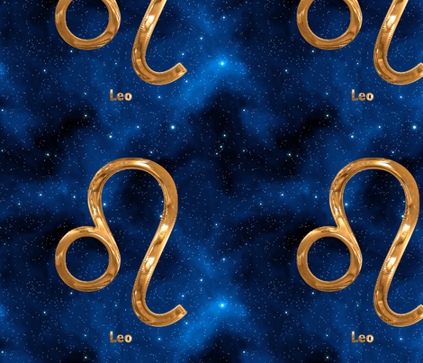 Leo Zodiac Sign fabric by animotaxis on Spoonflower - custom fabric