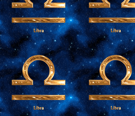 Libra Zodiac Sign fabric by animotaxis on Spoonflower - custom fabric