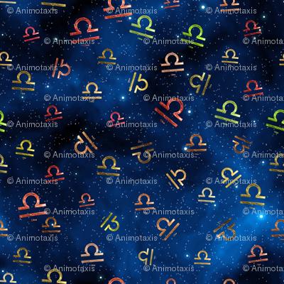 Ditsy Libra Zodiac Signs